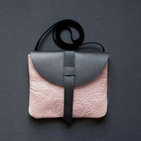 LEATHER Satchel. Small Cross Body Satchel. Pink Leather Shoulder Bag.
