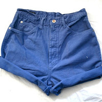 VTG High waisted periwinkle purple blue shorts medium
