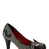 Meow's the Time Heel in Houndstooth
