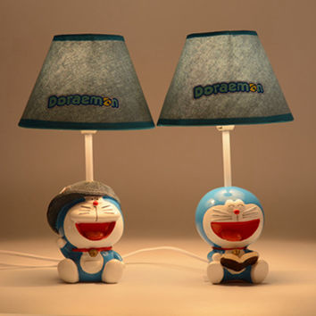 Bright Colorful Vintage Cartoons Cats Resin Lamp Creative Bedside Lamp [6282843846]