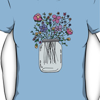 Mason Jar with Flowers Women's T-Shirt