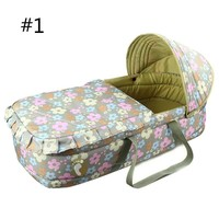 High Quality 0-7 month Baby Bed Bassinet Portable Baby Basket Bed Comfortable Newborn Baby Travel Bed Safety Infant Cradle