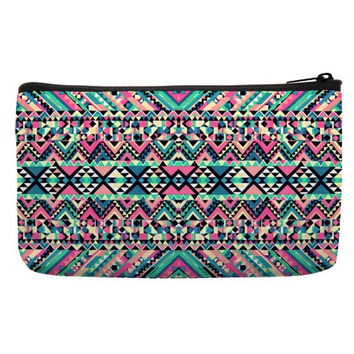 Cosmetic Bags For Sale in geometric pattern in turquoise color for cosmetic travel bag