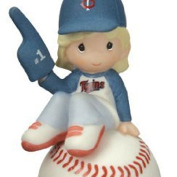 Precious Moments MLB Minnesota Twins Girl on Baseball Ornament