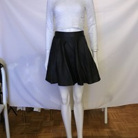 Vegan Leather Flared Skirts