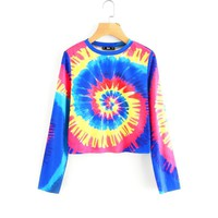 Spiral Tie Dye Casual T-Shirt