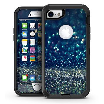 Navy and Gold Unfocused Sparkles of Light - iPhone 7 or 7 Plus OtterBox Defender Case Skin Decal Kit