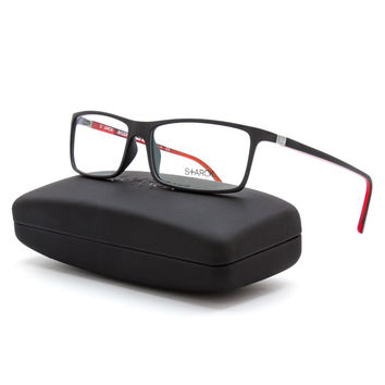 Starck Eyes Biozero Eyeglasses PL 3003 R00K Black & Red Frame / RX Clear Lens