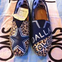 Custom Hand Painted Dallas Cowboys Toms
