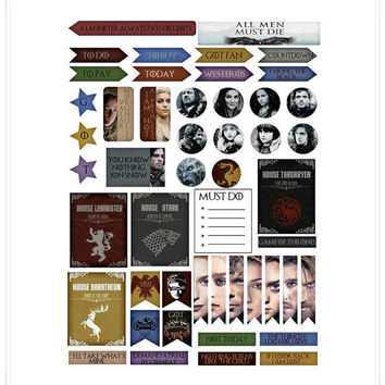 Game of Thrones Stickers Set 2