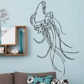 Jellyfish Version 110 Decal Sticker Wall Art Graphic Fish Ocean Scuba Dive