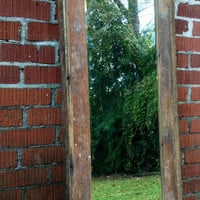 "Reclaimed wood full length mirror 53""x17"""