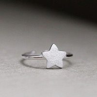 Jewelry Gift New Arrival Shiny 925 Silver Stylish Simple Design Korean Accessory Ring [7652916871]