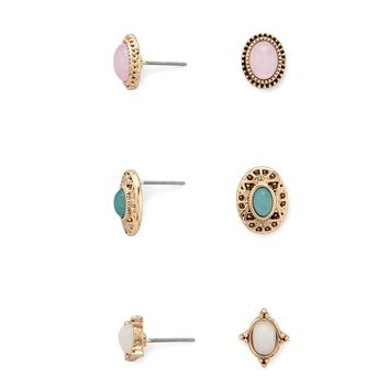 Ornate Medallion Stud Set