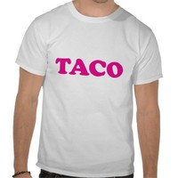 Pink Taco T-shirt from Zazzle.com