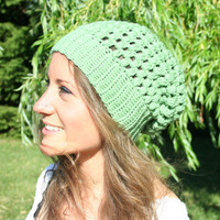 Slouch Hat - Mint Puffs
