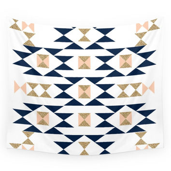 Society6 Jacs Modern Pattern Design In Aztec Them Wall Tapestry