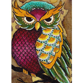 Owl Art Print by Artist Brittany Morgan