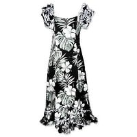 waikiki black meaaloha hawaiian dress