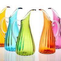Optic Pitcher by Cal Breed (Art Glass Pitcher) | Artful Home