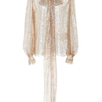 Sequin Embellished Scarf Neck Blouse | Moda Operandi