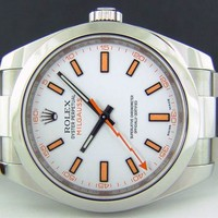 ROLEX - 2013 Stainless Steel 40mm MILGAUSS White Dial - 116400 SANT BLANC