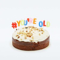 Youre Old Birthday Cake Candles - Urban Outfitters