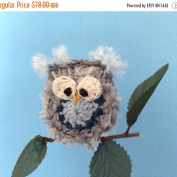 On SALE LIMITED TIME Mobile with adorable hooty owls perched on their own little branches.  Perfect for a baby boy.  Free Shipping