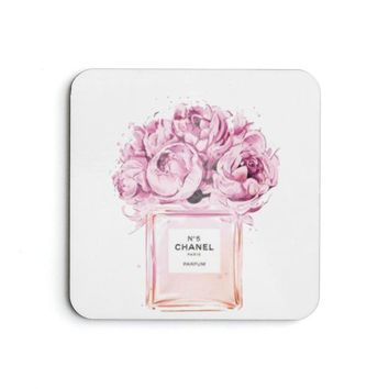 No 5 illustration Coaster Set