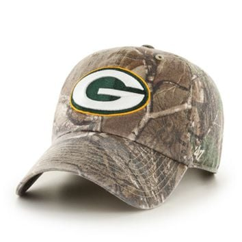 Green Bay Packers '47 Brand Big Buck Realtree Camo Clean Up Adjustable Hat