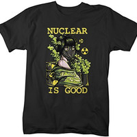 Shirts By Sarah Men's Grunge Nuclear Is Good Ironic T-Shirt Hipster Shirts