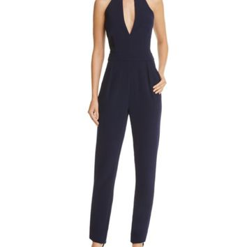 Lucy Paris Lace Trim Keyhole Jumpsuit | Bloomingdales's