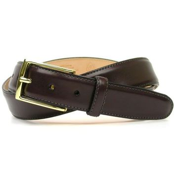 Smith Belt in Burgundy Leather by Martin Dingman