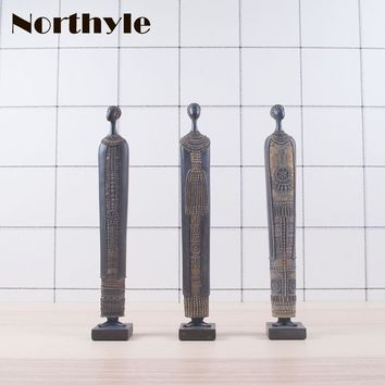 Northyle Africa theme resin figure statue home decoration Africans figurine art craft figure sculpture ornament gift items