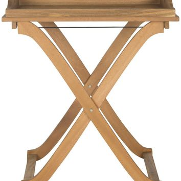 Covina Tray Table Teak Brown