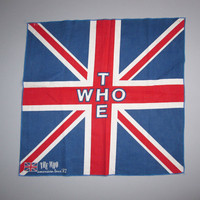 Vintage The Who 1982 82 American Tour USA Souvenir Bandanna