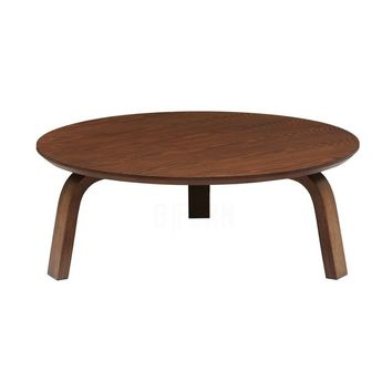 Wood Round Coffee Table - Nes - Cocoa | Modern, Mid-Century & Scandinavian | GFURN