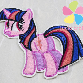 Iron-on or Sew-on Cartoon Horse Pattern Embroidered Patch Motif Applique DIY Garment Sewing Accessories 6pcs 082007127