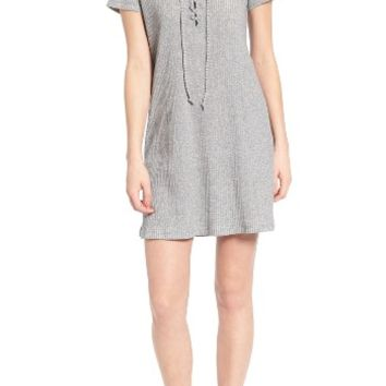 Roxy Go Your Way Lace-Up Dress | Nordstrom