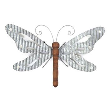 "DCCKX8J SONOMA Goods for Lifeâ""?Galvanized Iron Butterfly Wall Decor"