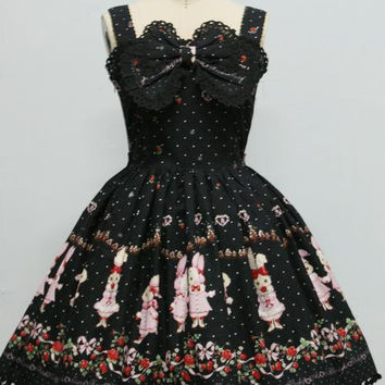 Royal Bobbi Embroidery Sweet Lolita Dress Cotton Dress Girl Dress