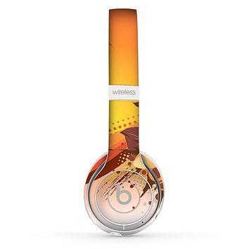 The Coral Colored Floral Pelical Skin Set for the Beats by Dre Solo 2 Wireless Headphones