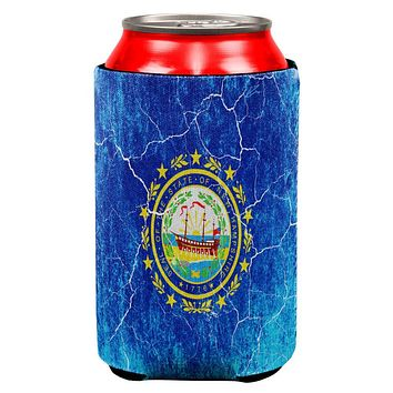 New Hampshire Vintage Distressed State Flag All Over Can Cooler