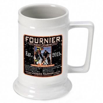 16oz. Ceramic Beer Stein - Hockey Academy
