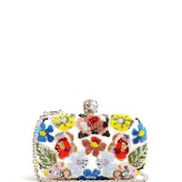 Floral-embellished leather box clutch | Alexander McQueen | MATCHESFASHION.COM UK