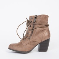 String Me Along Heel Booties