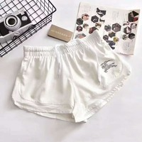 """Burberry ""Fashion Casual Print Exercise Fitness Running Elastic Shorts G-JGYF"