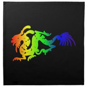 Dragon Printed Napkin