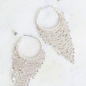 Dangle Around Hoop Silver