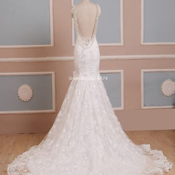 Vestidos De Novia Wedding Dress 2017 Mermaid Sweetheart Neckline Robe De Mariage Wedding Gowns With Lace Appliques Beading